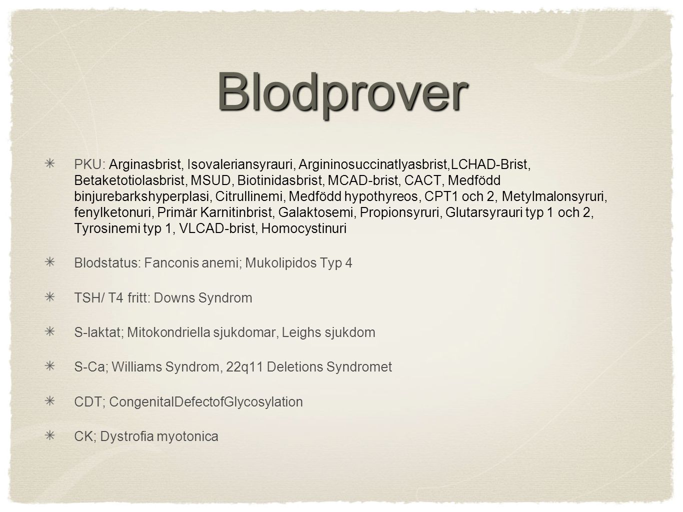Blodprover