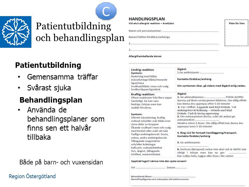 Patientutbildning och behandlingsplan