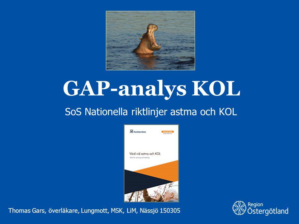 SoS Nationella riktlinjer astma och KOL