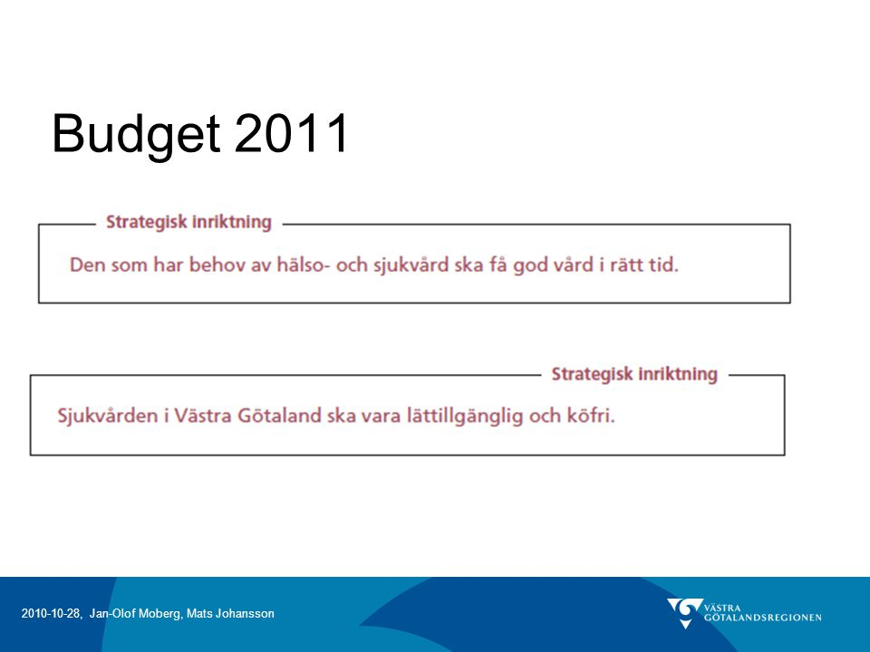 Budget 2011 Ulla