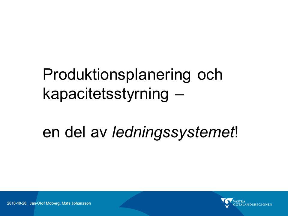 Produktionsplanering och kapacitetsstyrning –