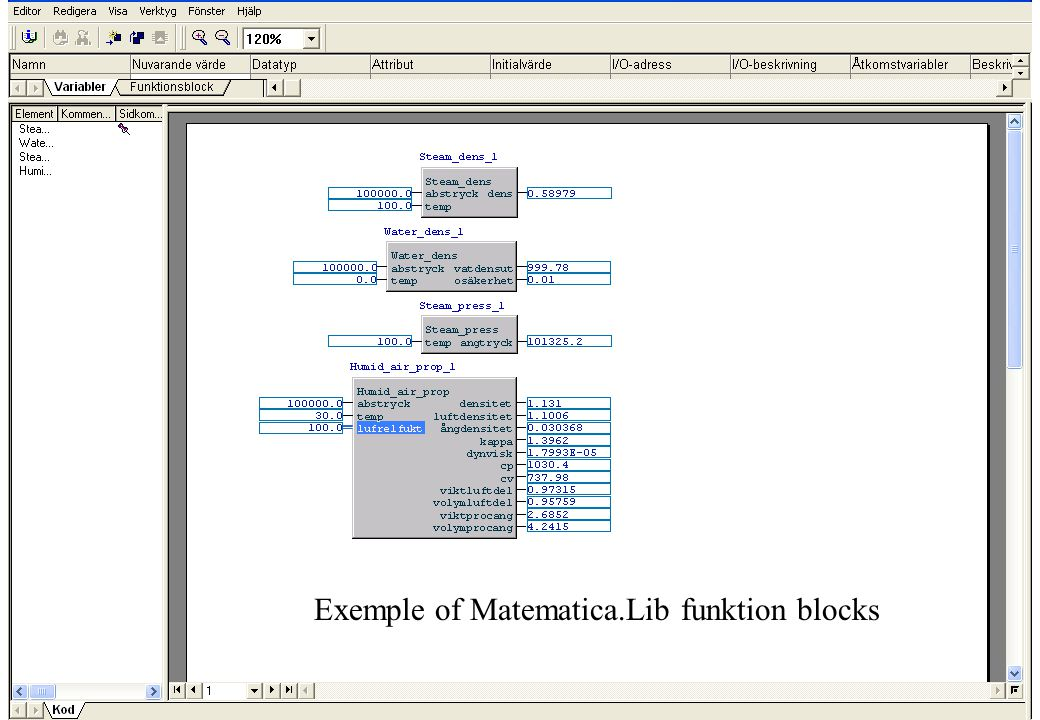 Exemple of Matematica.Lib funktion blocks