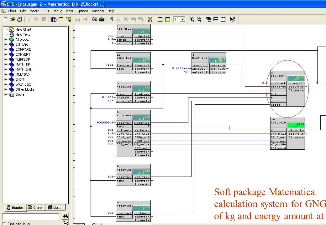 Soft package Matematica calculation system for GNG delivery