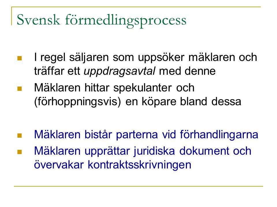 Svensk förmedlingsprocess