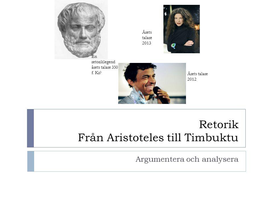 Retorik Från Aristoteles till Timbuktu
