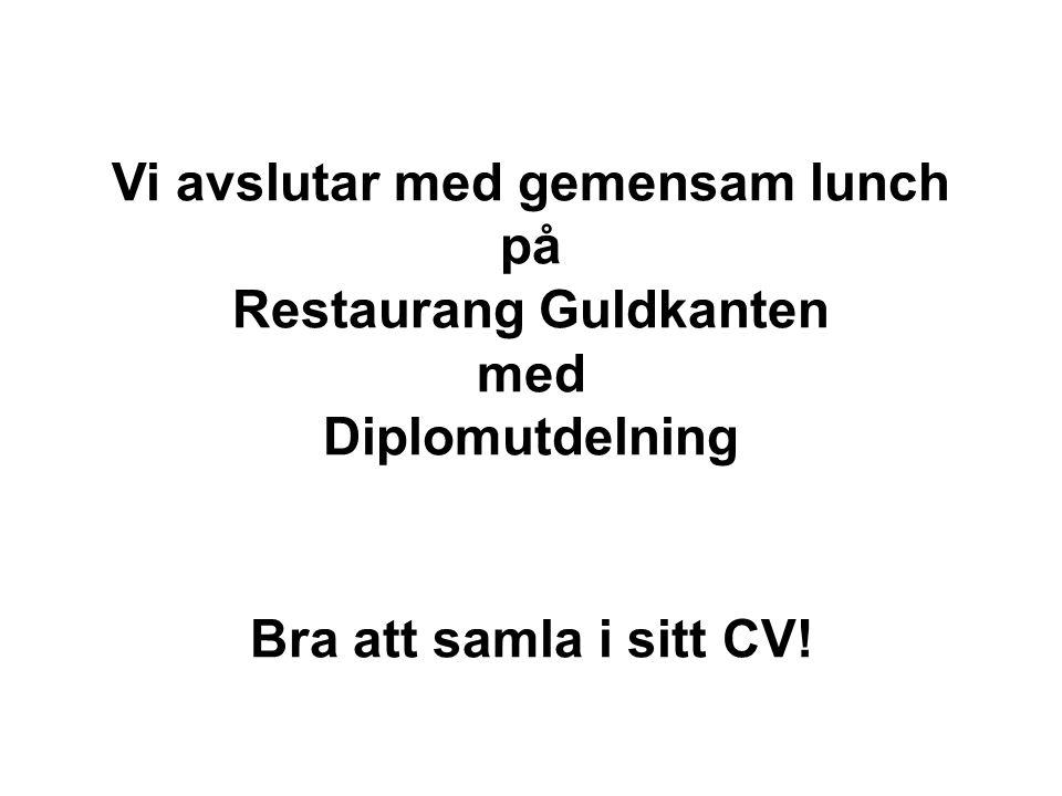 Diplomutdelning Bra att samla i sitt CV!