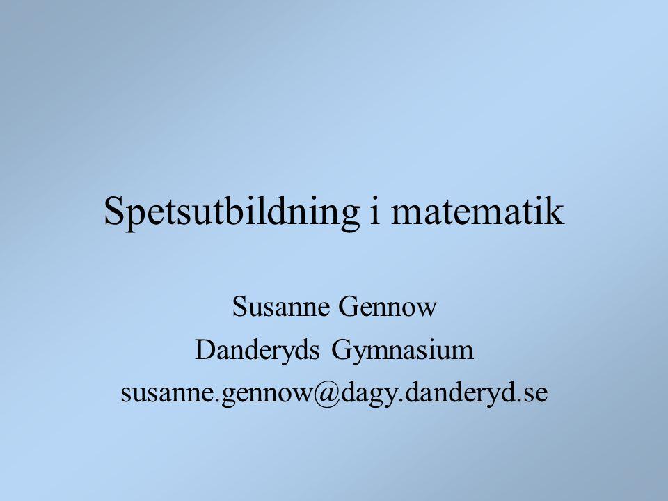 Spetsutbildning i matematik