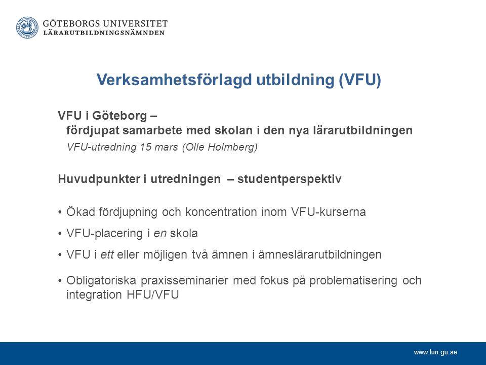 Verksamhetsförlagd utbildning (VFU)