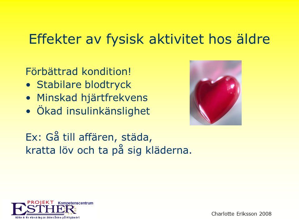 Effekter av fysisk aktivitet hos äldre