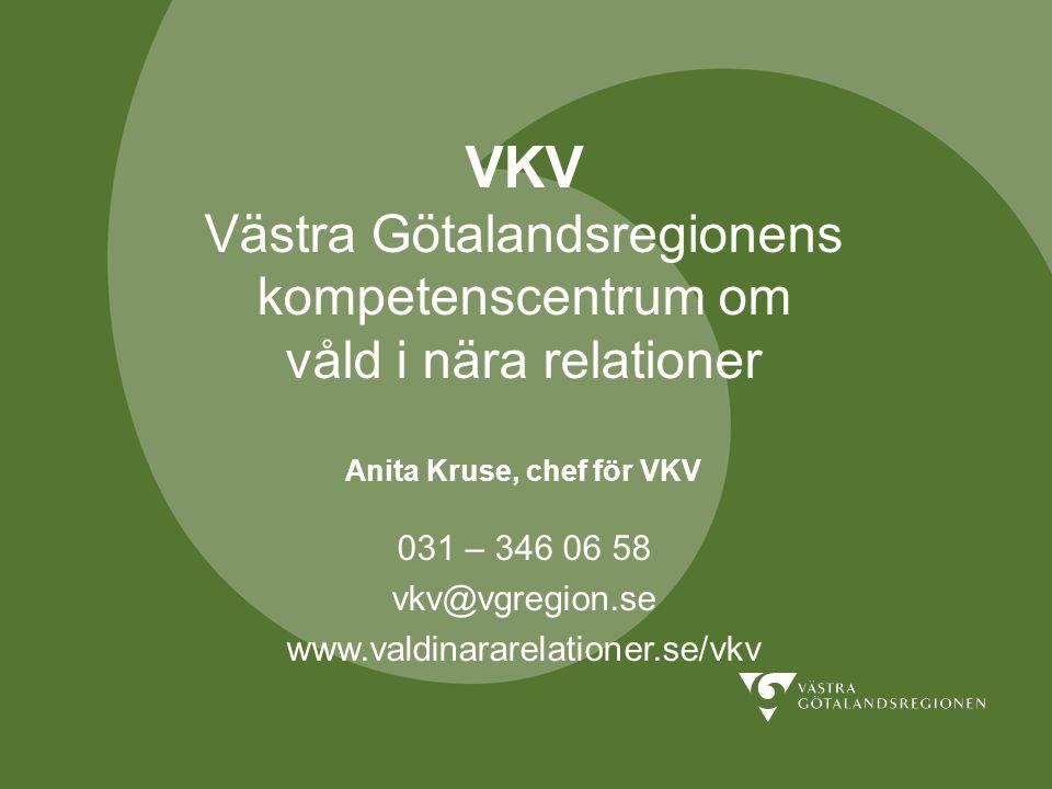 Anita Kruse, chef för VKV