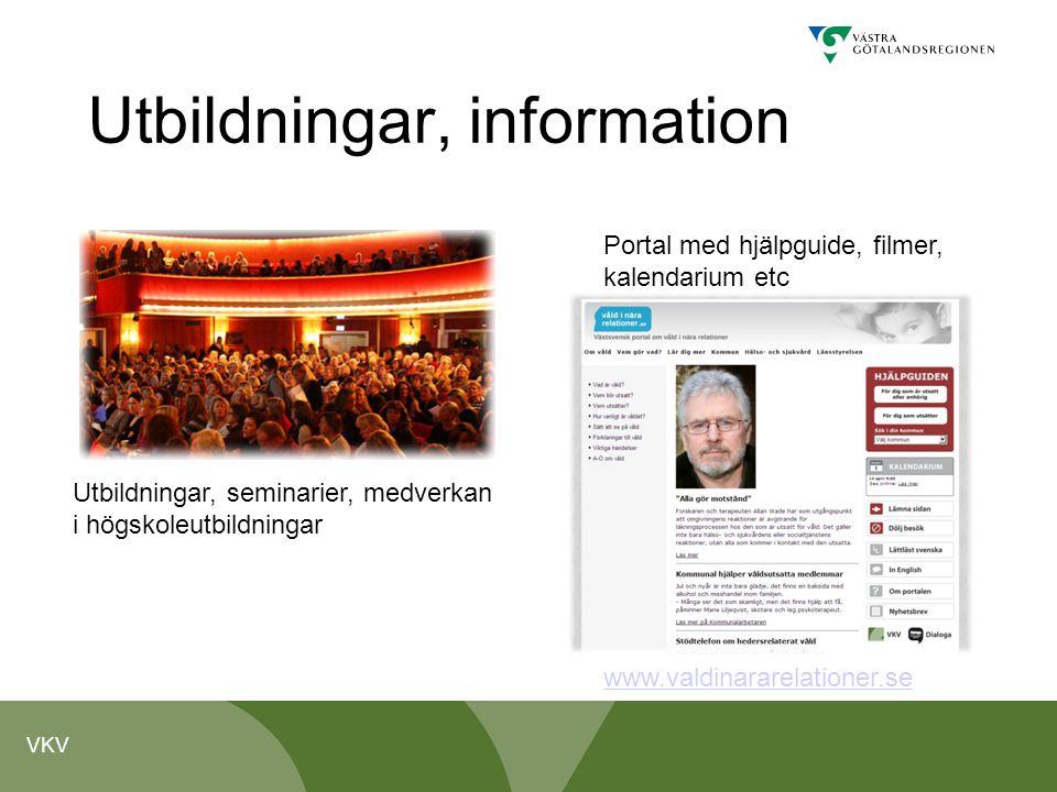 Utbildningar, information