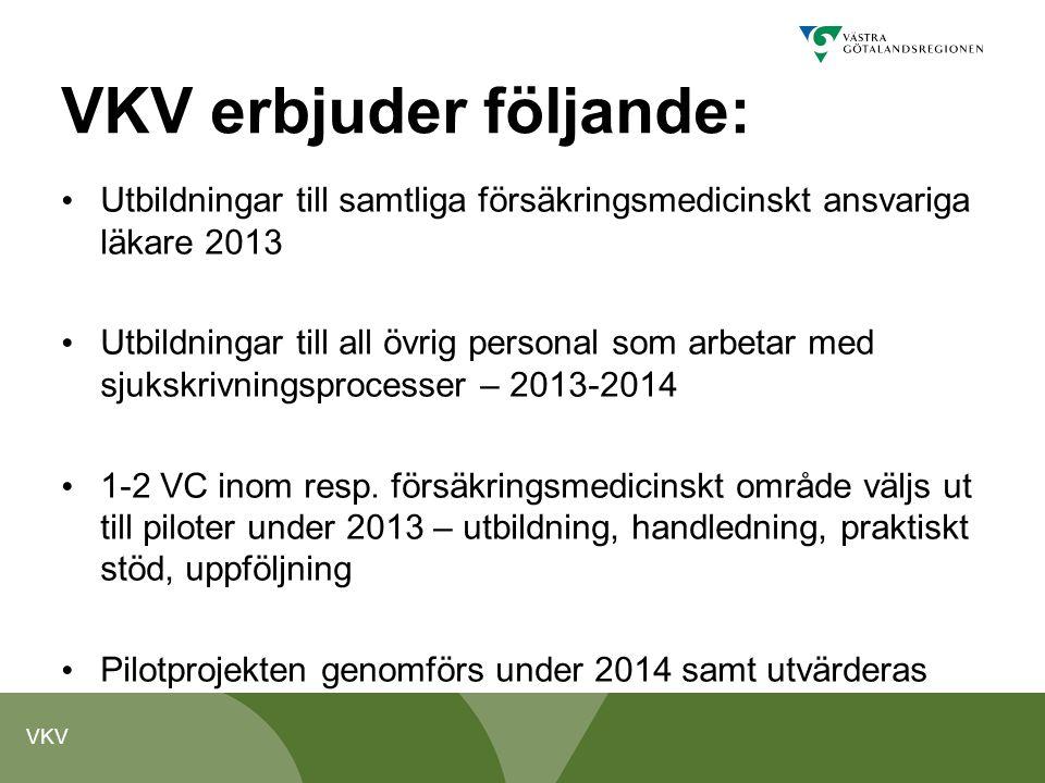 VKV erbjuder följande: