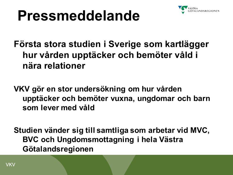 Pressmeddelande Första stora studien i Sverige som kartlägger hur vården upptäcker och bemöter våld i nära relationer.