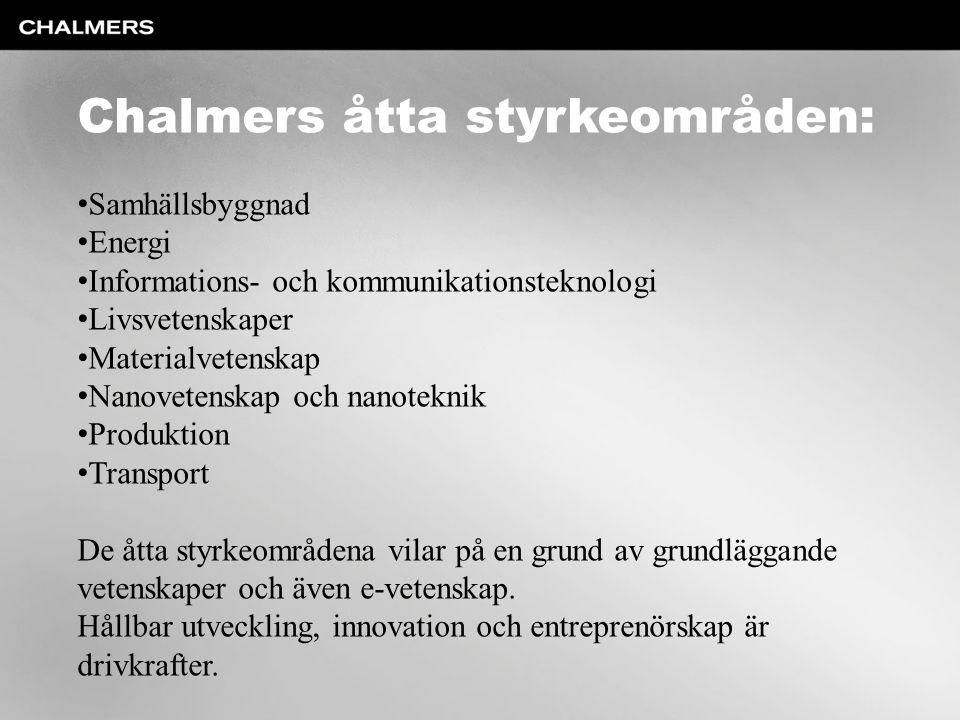 Chalmers åtta styrkeområden: