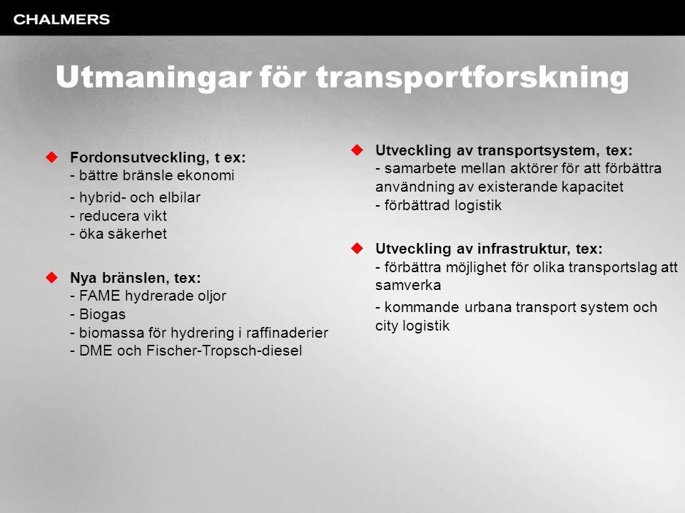 Utmaningar för transportforskning
