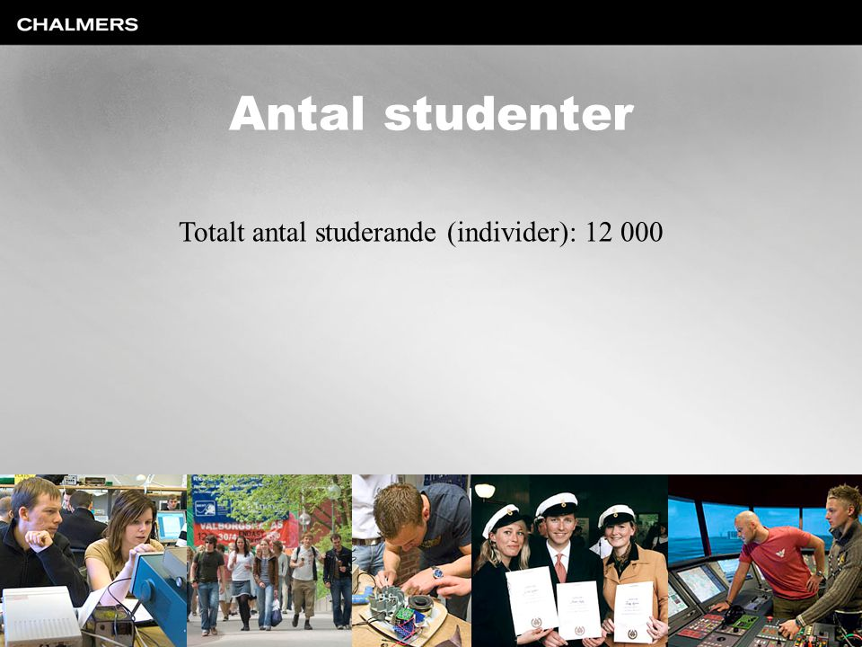 Totalt antal studerande (individer): 12 000