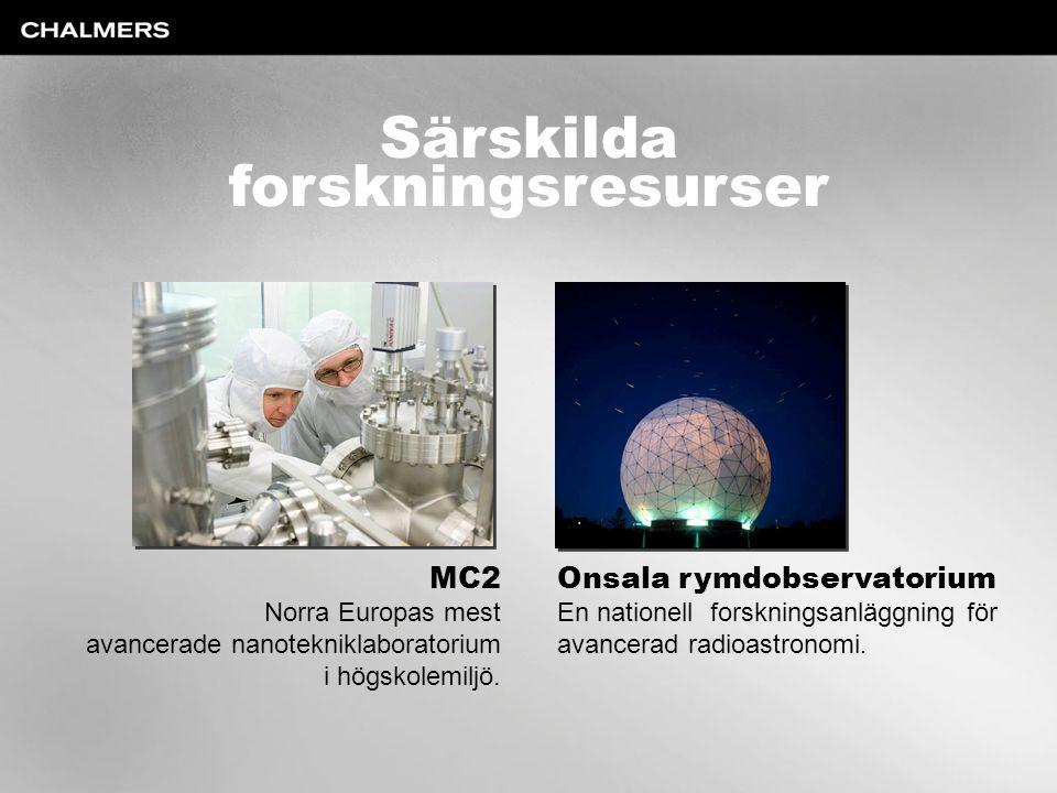 Särskilda forskningsresurser MC2 Onsala rymdobservatorium