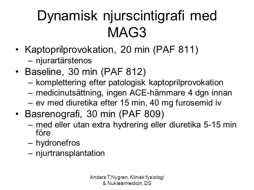 Dynamisk njurscintigrafi med MAG3