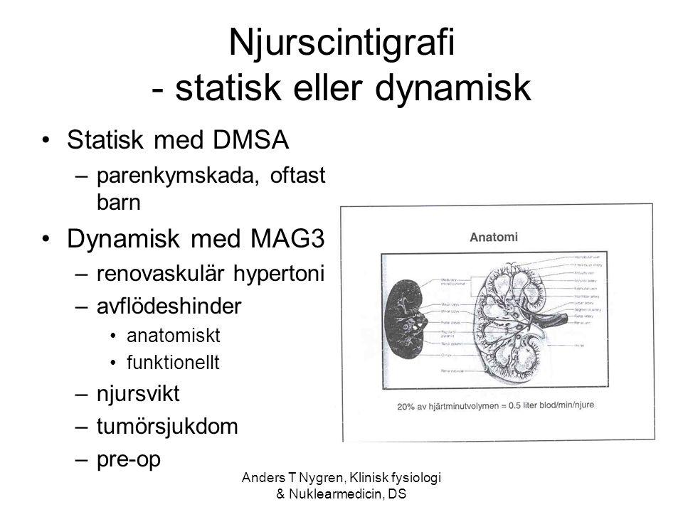 Njurscintigrafi - statisk eller dynamisk