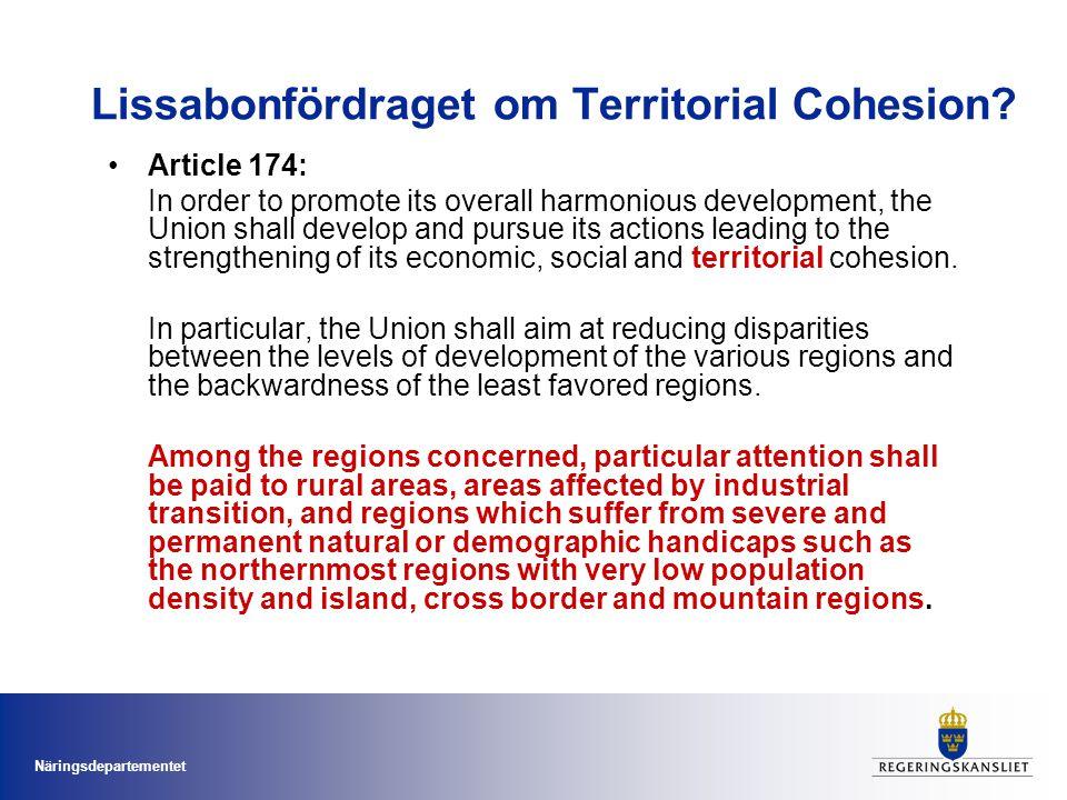 Lissabonfördraget om Territorial Cohesion