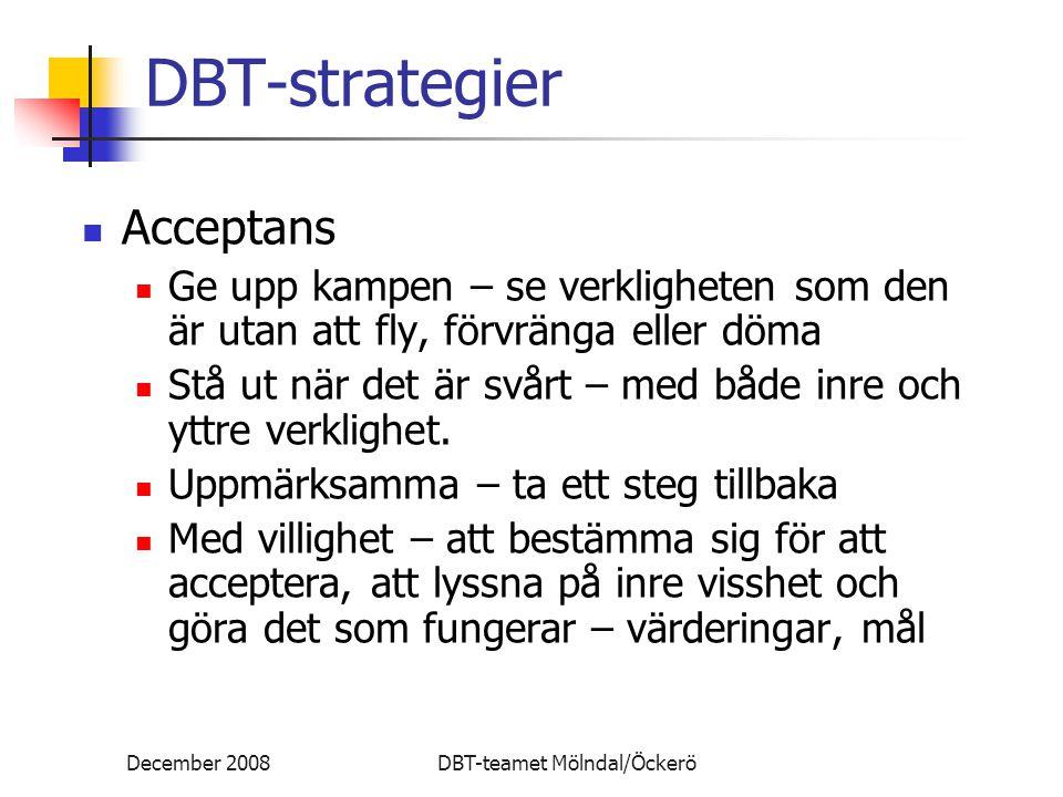 DBT-strategier Acceptans