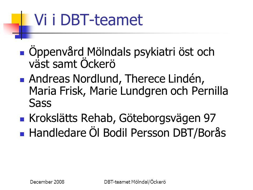 Vi i DBT-teamet Öppenvård Mölndals psykiatri öst och väst samt Öckerö