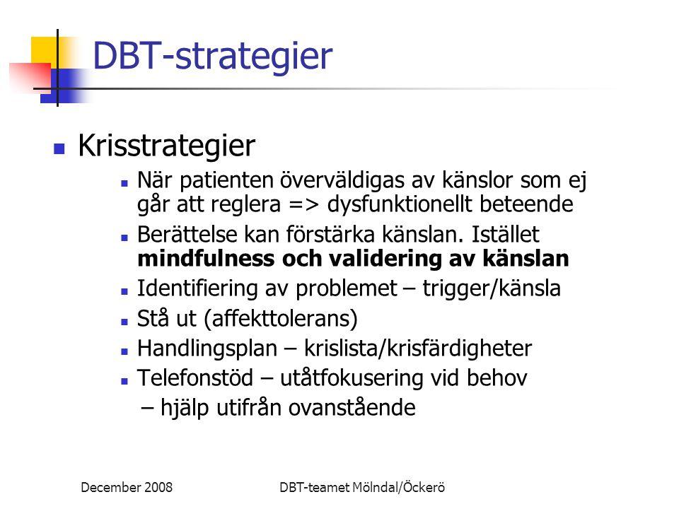 DBT-strategier DBT-strategier