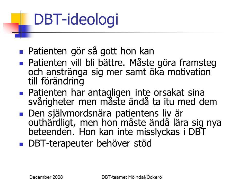 DBT-ideologi Patienten gör så gott hon kan