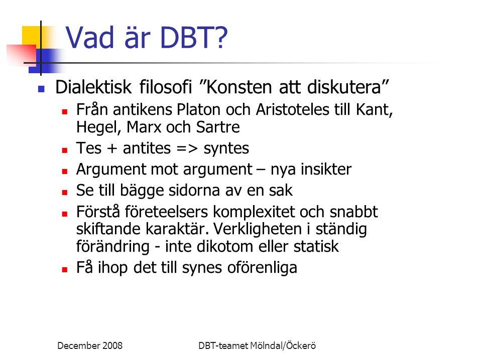 Vad är DBT Dialektisk filosofi Konsten att diskutera