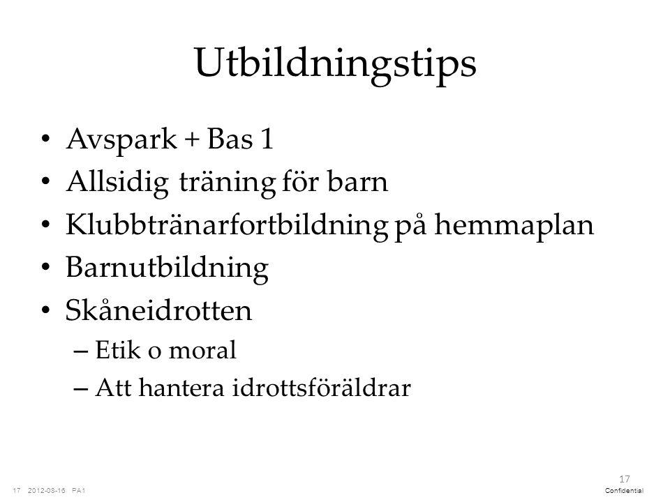 Utbildningstips Avspark + Bas 1 Allsidig träning för barn