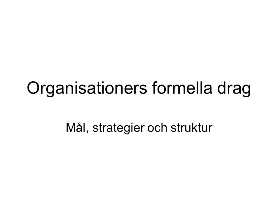 Organisationers formella drag