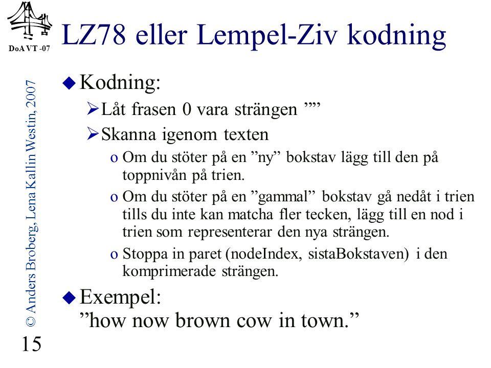 LZ78 eller Lempel-Ziv kodning