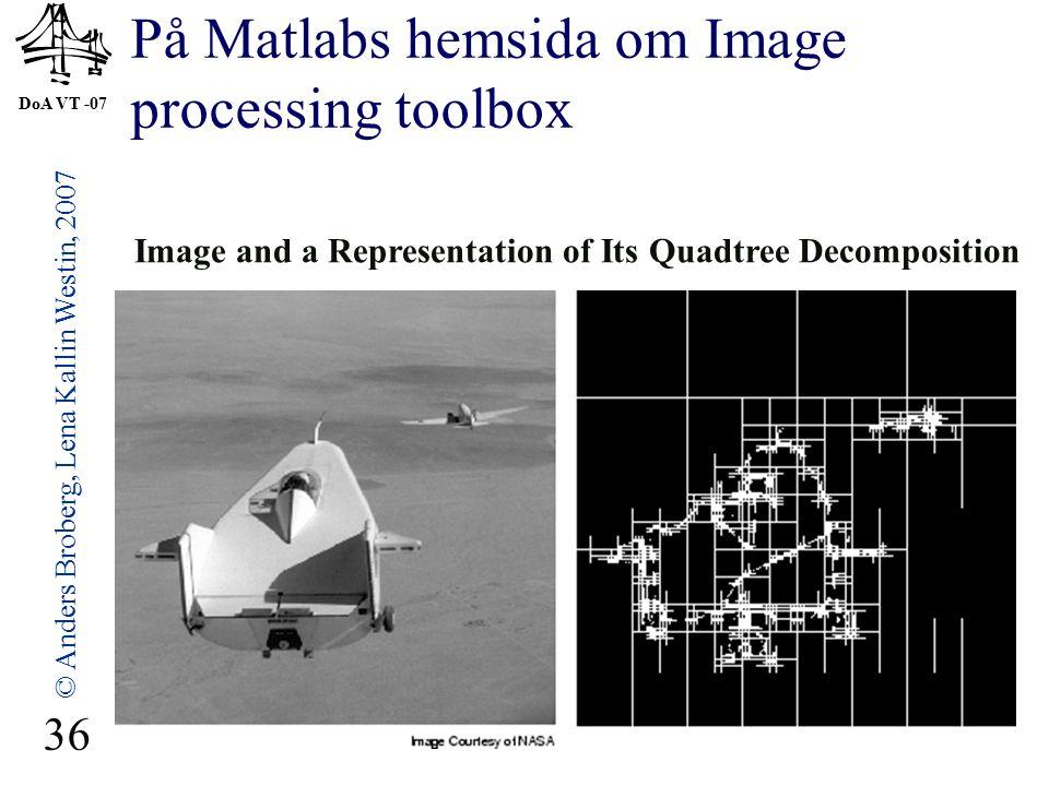 På Matlabs hemsida om Image processing toolbox