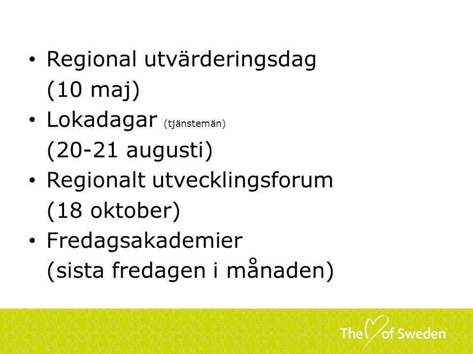 Regional utvärderingsdag