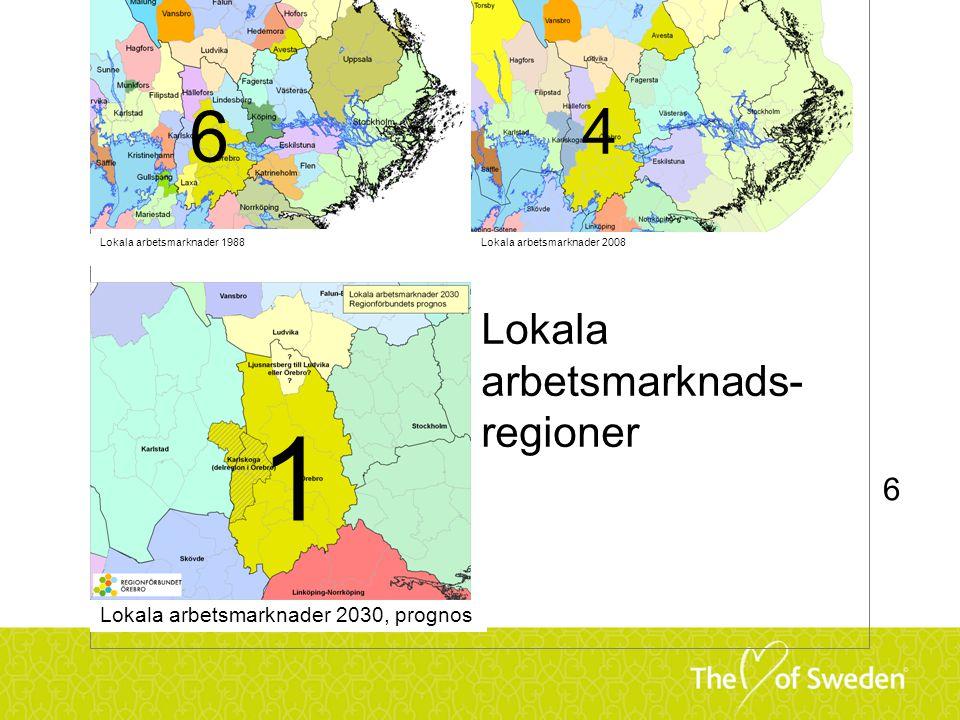 1 6 4 Lokala arbetsmarknads-regioner 6