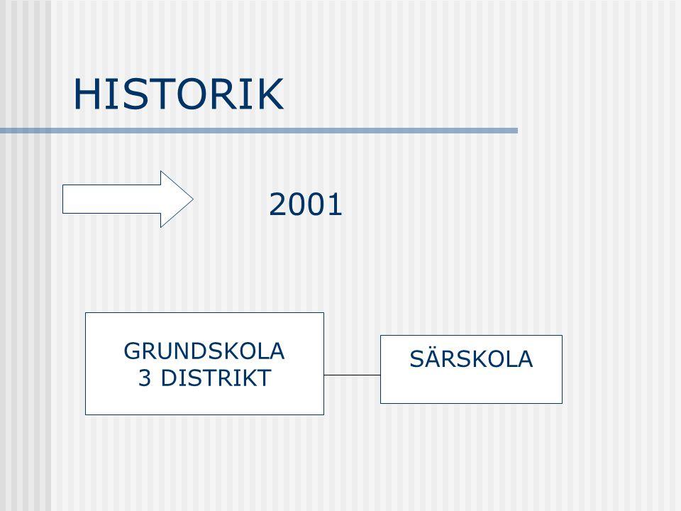 HISTORIK 2001 GRUNDSKOLA 3 DISTRIKT SÄRSKOLA