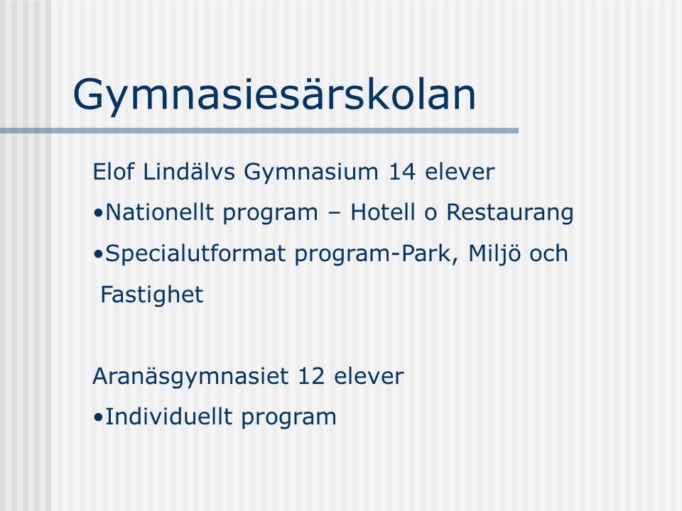 Gymnasiesärskolan Elof Lindälvs Gymnasium 14 elever