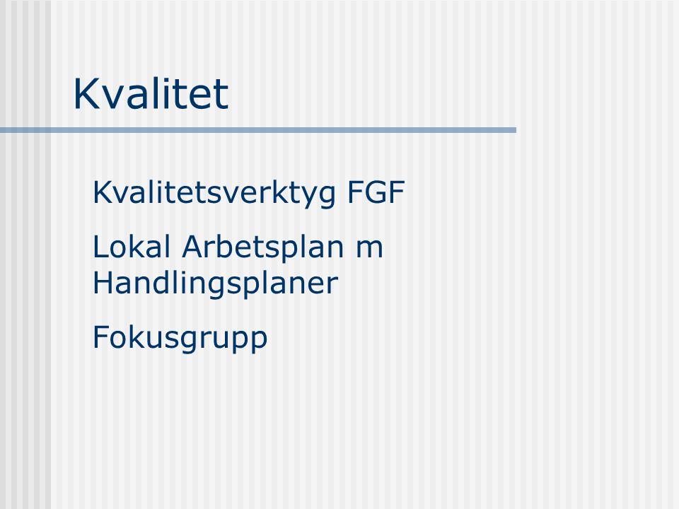 Kvalitet Kvalitetsverktyg FGF Lokal Arbetsplan m Handlingsplaner