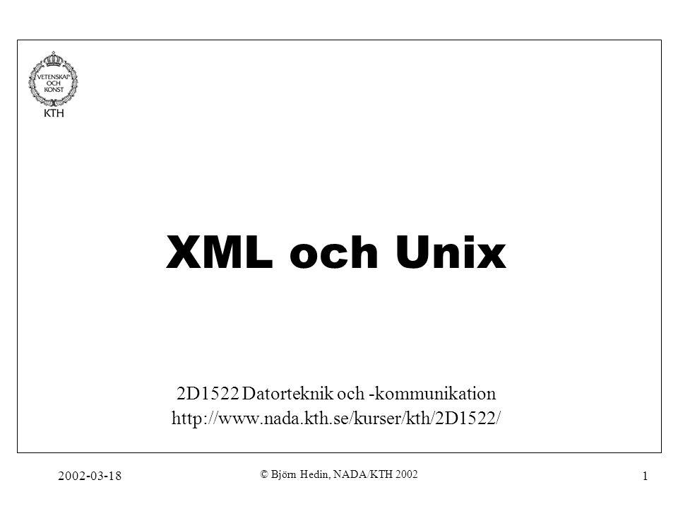 2D1522 Datorteknik och -kommunikation