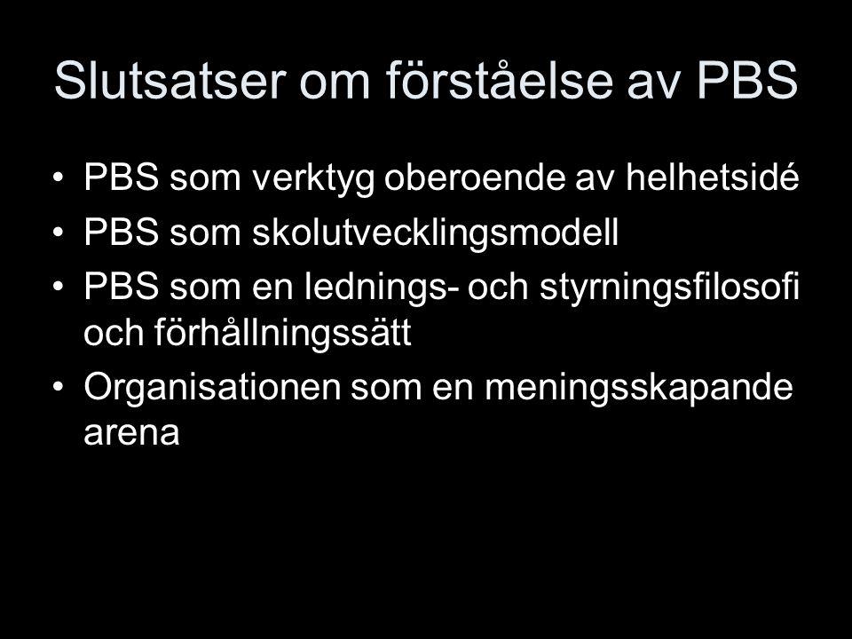 Slutsatser om förståelse av PBS