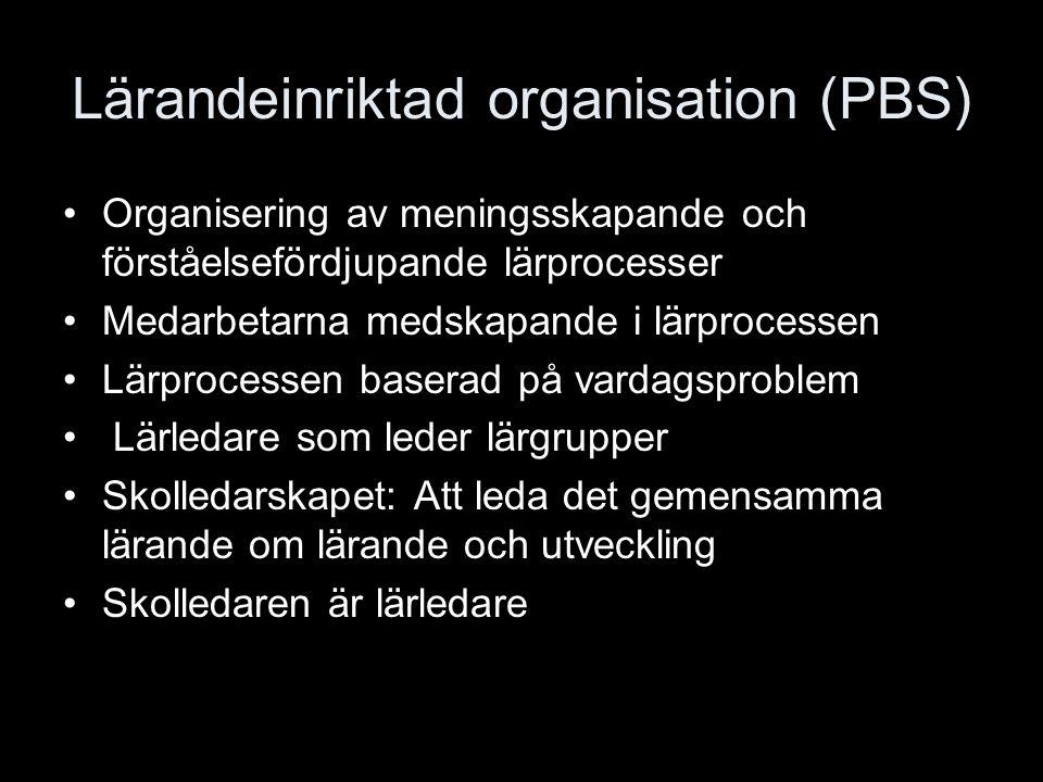 Lärandeinriktad organisation (PBS)