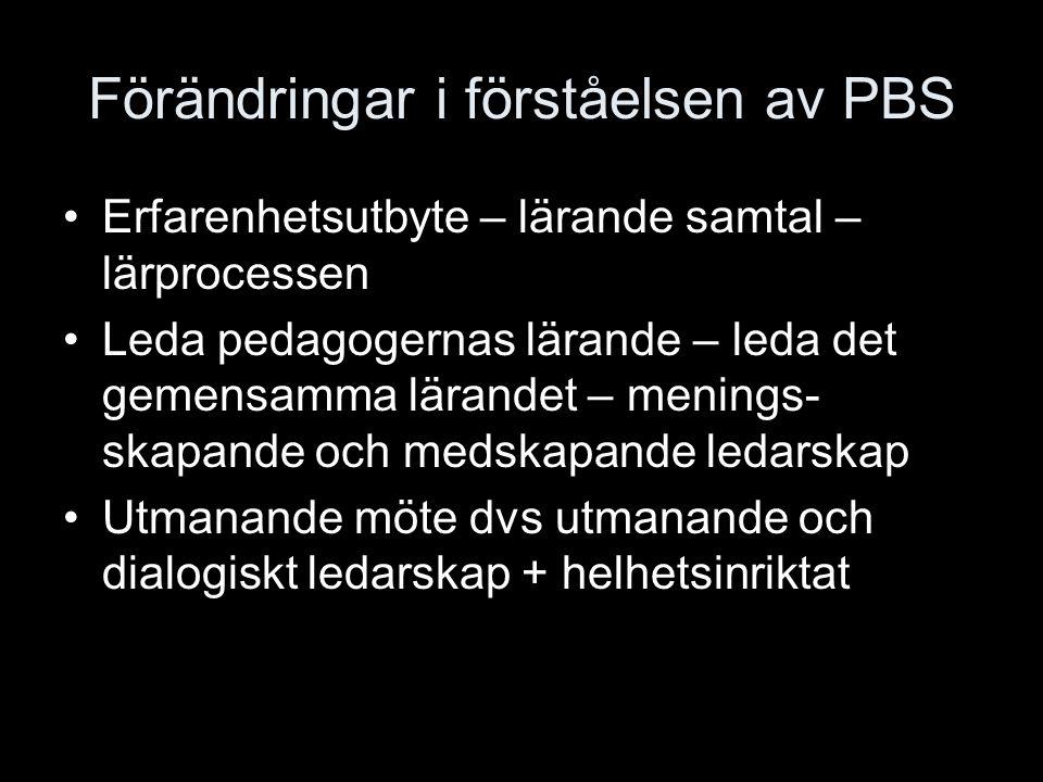 Förändringar i förståelsen av PBS