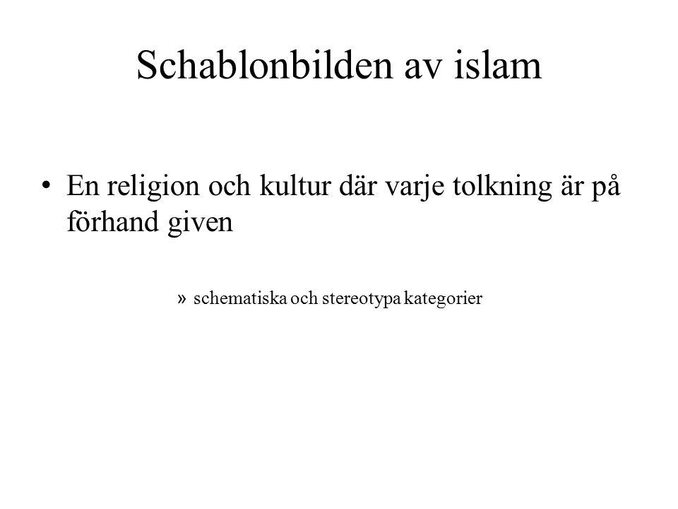 Schablonbilden av islam