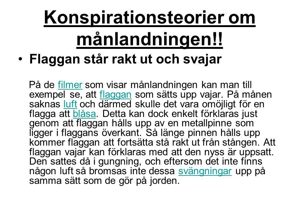 Konspirationsteorier om månlandningen!!
