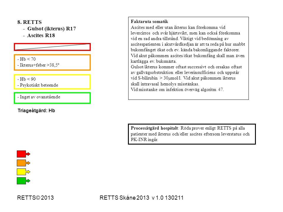 8. RETTS - Gulsot (ikterus) R17 - Ascites R18 RETTS© 2013