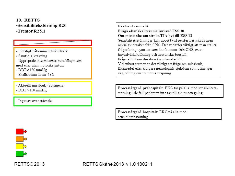 Sensibilitetsstörning R20 Tremor R25.1