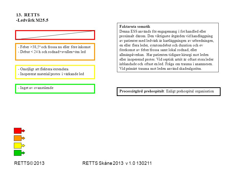 13. RETTS Ledvärk M25.5 RETTS© 2013 RETTS Skåne 2013 v 1.0 130211
