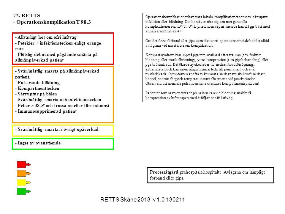 - Operationskomplikation T 98.3