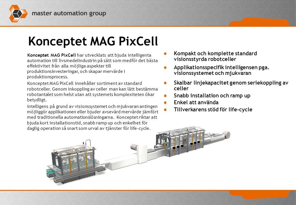 Konceptet MAG PixCell Kompakt och komplette standard visionsstyrda robotceller.