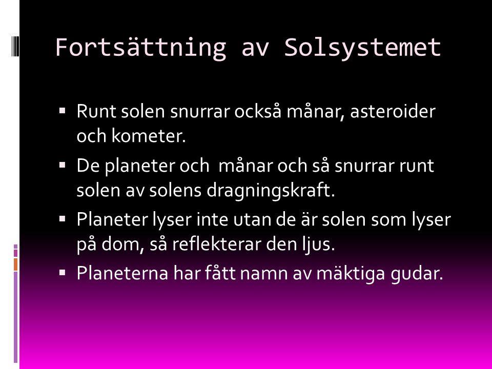 Fortsättning av Solsystemet